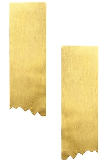 Gold finish Torn Earrings by Eurumme Jewellery