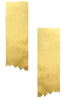 Gold finish Torn Earrings by Eurumme Jewellery