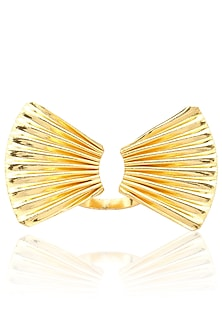 Gold finish Orient Ring by Eurumme Jewellery