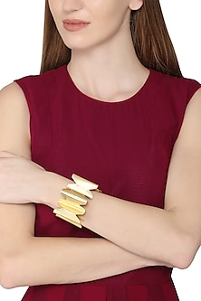 Gold Plated Circular Detailed Bracelet by Eurumme Jewellery