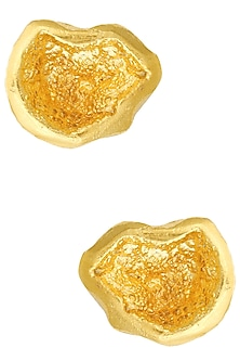 Gold Finish Cup Duzy Crater Studs by Eurumme Jewellery