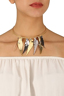 Gold Finish Autumn Choker by Eurumme Jewellery