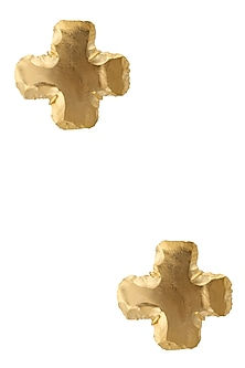 Gold Finish Marigold Studs by Eurumme Jewellery