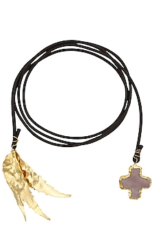 Gold Finish Long Autumn Lariat by Eurumme Jewellery