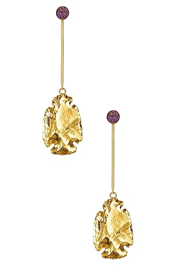 Gold Finish Phoenix Earrings by Eurumme Jewellery