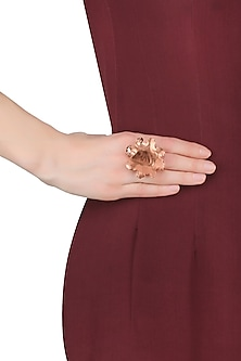 Rose Gold Finish Rose Glow Ring by Eurumme Jewellery