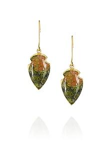 Wings of unakite earrings by Eurumme Jewellery