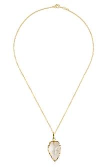 Clear meteoroid pendant by Eurumme Jewellery