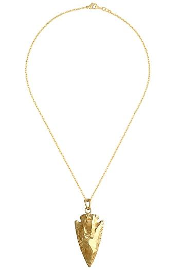 Golden dagger pendant by Eurumme Jewellery