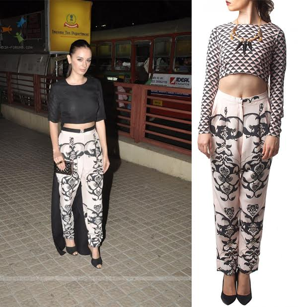 Ottoman print rolled up pants by Payal Singhal