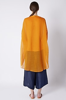 Mustard Chinese Collared Top by EZRA