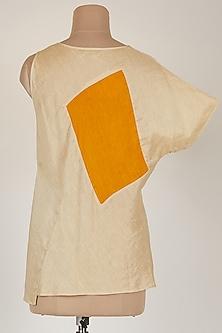 Off White Asymmetric Top by EZRA