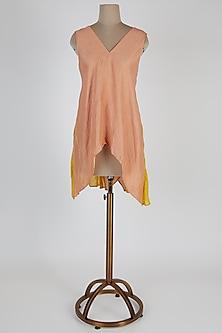 Blush Pink Asymmetric Tunic by EZRA