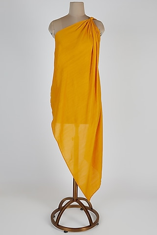 Yellow One Shoulder Top by EZRA