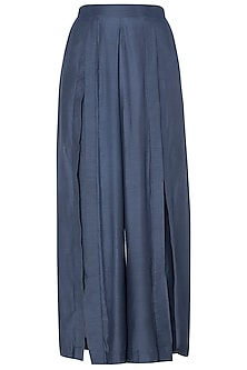Blue Demin Box Pleated Pants by EZRA