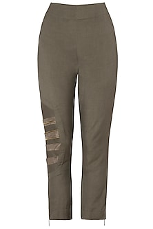 Bronze Strapped Pants by EZRA