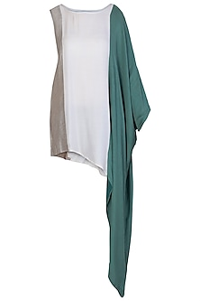 Green Vertical Patch Top by EZRA