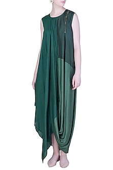Emerald Green Maxi Dress by EZRA