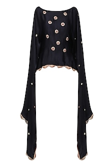 Navy Nargis Embroidered Cape by Fancy Pants