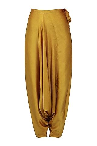 Gold Saara Cowl Pants by Fancy Pants