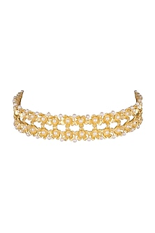 Gold Plated Handcrafted Choker Necklace by Fusio