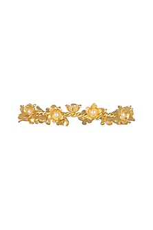 Gold Plated Handcrafted Floral Bangles by Fusio