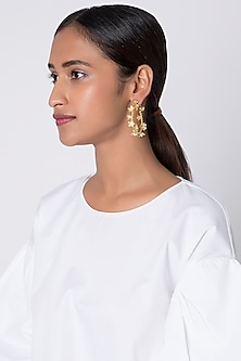 Gold Plated Small Hoop Earrings by Fusio
