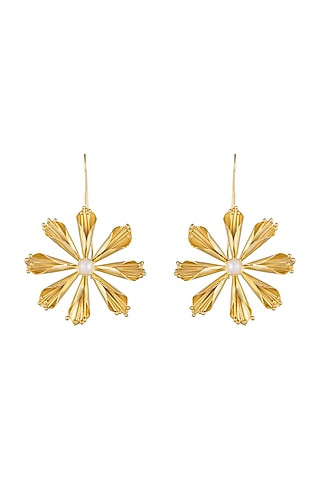 Gold Plated Handcrafted Dangler Earrings by Fusio