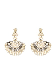 Antique Gold Finish Victorian Dangler Earrings by Firdaus By Akshita