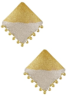 Gold and Silver Plated Square Earrings by Finura By Richa