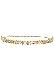 Gold Plated Zircons Choker by Finura By Richa