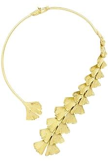 Antique Gold Finish Flower Motif Choker by Firdaus By Akshita