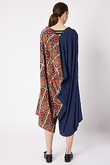 Blue Ajrakh Printed Jumpsuit by Fahd Khatri