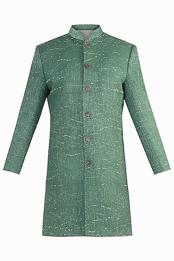 GREEN RIB WOVEN INDOWESTERN JACKET