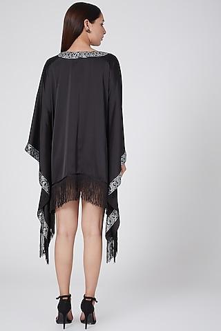 Black Embellished Kaftan by First Resort by Ramola Bachchan