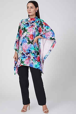 Blush Pink Floral Printed Tunic by First Resort by Ramola Bachchan
