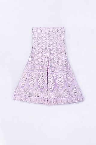 Lilac Purple Embroidered Sharara Set by Free Sparrow