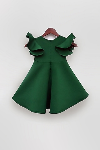 Green Dress With Bow by Fayon Kids