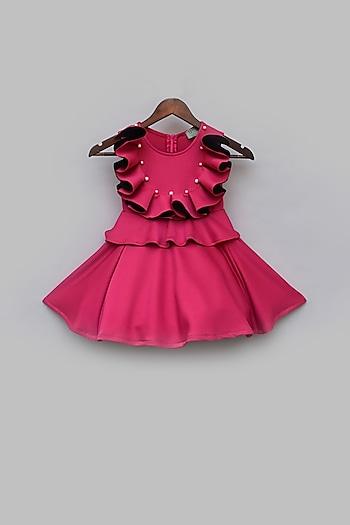 Pink Lycra Dress by Fayon Kids