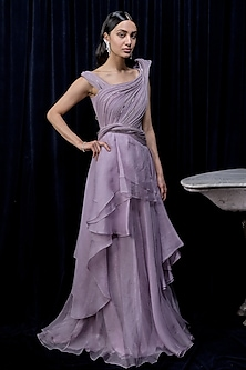 Prism Lilac Layered Gown by Gaurav Gupta