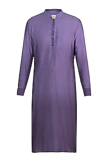 Purple Ombre Kurta by Gaurav Katta