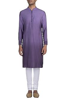 Purple Ombre Kurta by Gaurav Katta