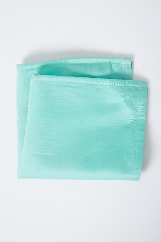 Powder Blue Modal Silk Pocket Square by Gaurav Katta
