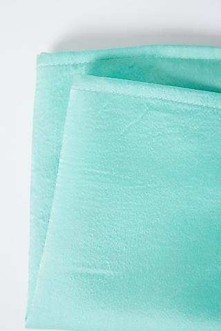 Cobalt Blue Modal Silk Pocket Square by Gaurav Katta