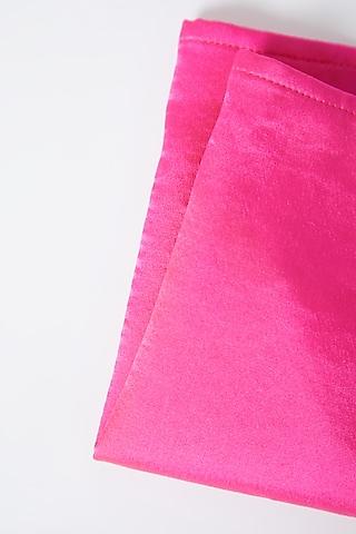 Blush Pink Modal Silk Pocket Square by Gaurav Katta