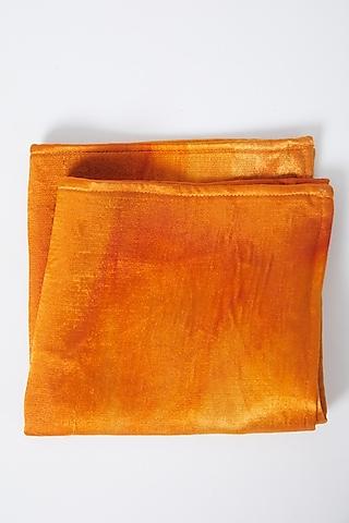 Mustard Modal Silk Pocket Square by Gaurav Katta