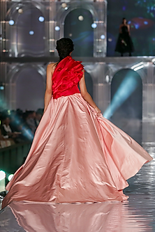 Light Pink Flared Gown by Gauri and Nainika