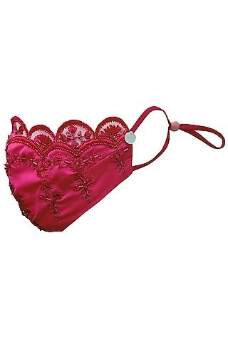 Fuchsia Embellished Mask by Gaya