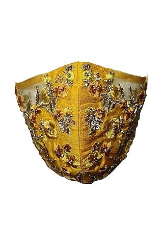 Yellow Embellished Mask by Gaya