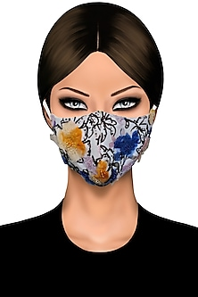 Multi Colored Floral Printed Mask by Gaya